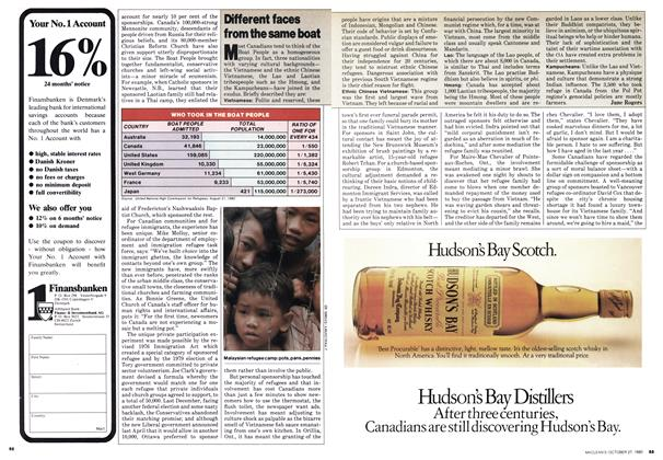 Article Preview: Different faces from the same boat, October 1980 | Maclean's