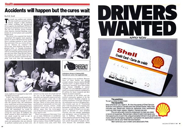 Article Preview: Accidents will happen but the cures wait, October 1980 | Maclean's