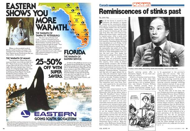 Article Preview: Reminiscences of stinks past, November 1980 | Maclean's