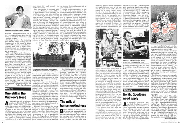 Article Preview: One still in the Cuckoo's Nest, November 1980 | Maclean's