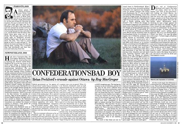 Article Preview: CONFEDERATION'S BAD BOY, November 1980 | Maclean's