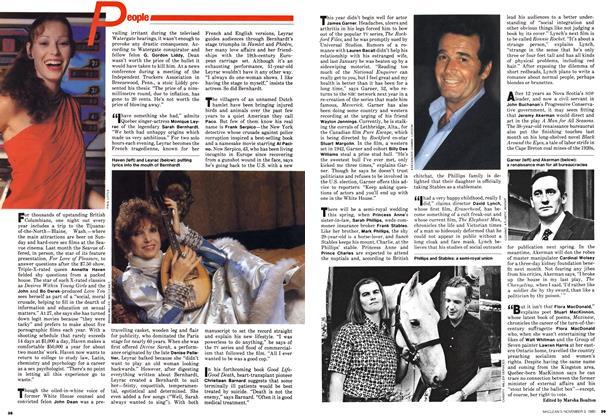 Article Preview: People, November 1980 | Maclean's