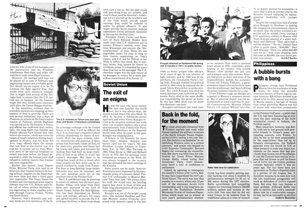 Article Preview: Back in the fold, for the moment, November 1980 | Maclean's