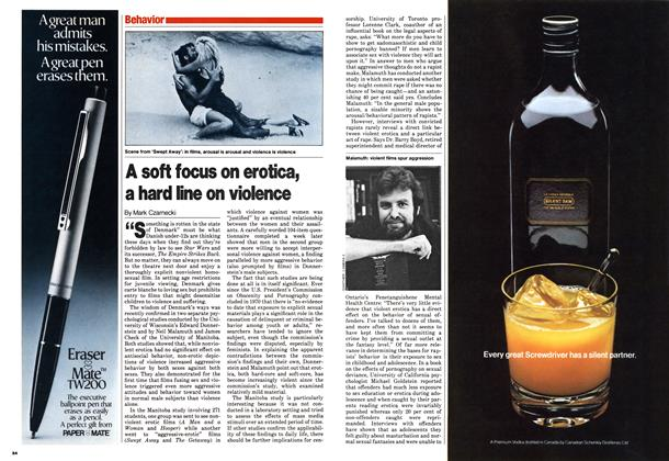 Article Preview: A soft focus on erotica, a hard line on violence, November 1980 | Maclean's