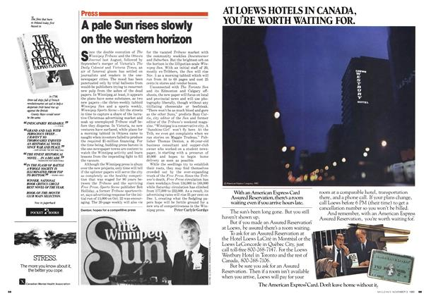 Article Preview: A pale Sun rises slowly on the western horizon, November 1980 | Maclean's