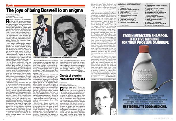 Article Preview: The joys of being Boswell to an enigma, November 1980 | Maclean's