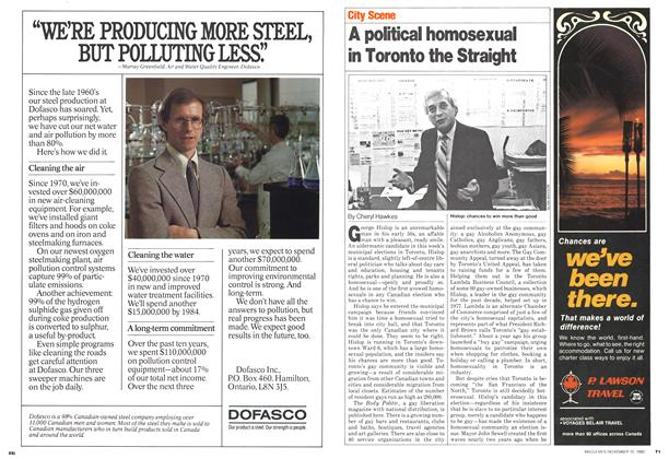 Article Preview: A political homosexual in Toronto the Straight, November 1980 | Maclean's