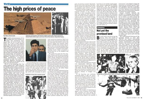 Article Preview: The high prices of peace, November 1980 | Maclean's