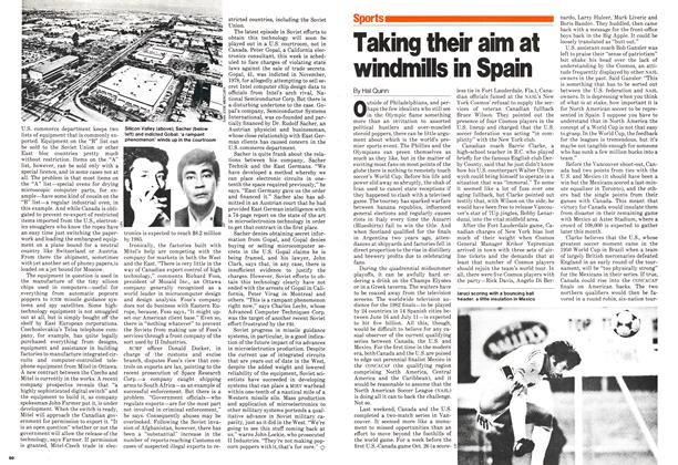 Article Preview: Taking their aim at windmills in Spain, November 1980 | Maclean's