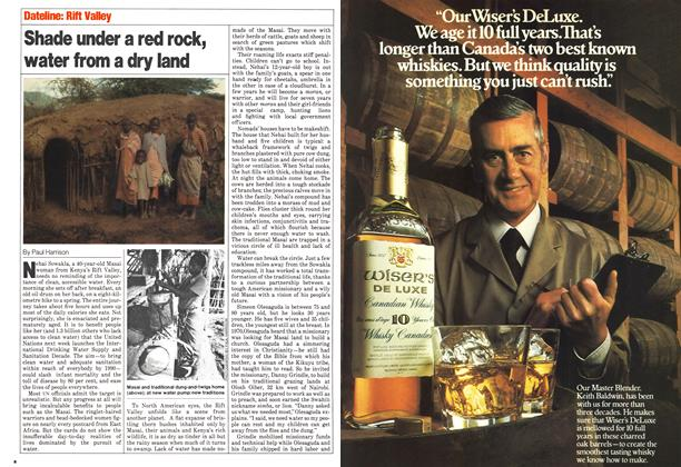 Article Preview: Shade under a red rock, water from a dry land, November 1980 | Maclean's