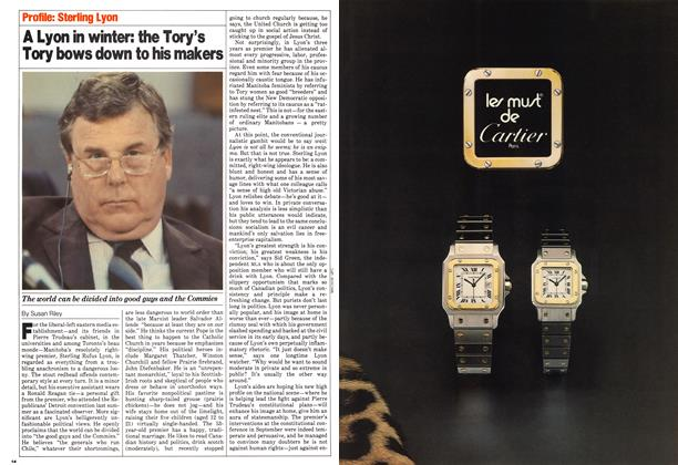 Article Preview: A Lyon in winter: the Tory's Tory bows down to his makers, November 1980 | Maclean's
