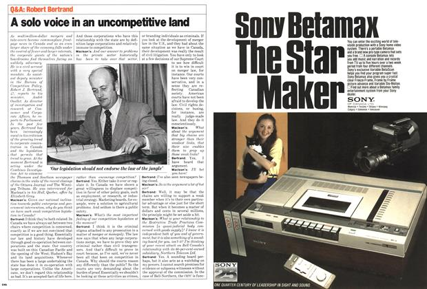 Article Preview: A solo voice in an uncompetitive land, November 1980 | Maclean's