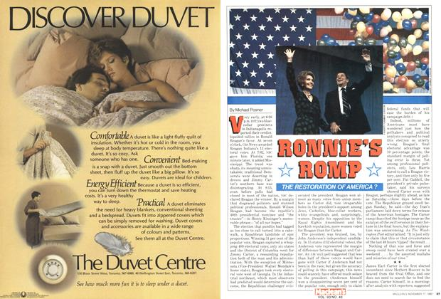 Article Preview: RONNIE'S ROMP, November 1980 | Maclean's