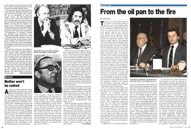 Article Preview: From the oil pan to the fire, November 1980 | Maclean's