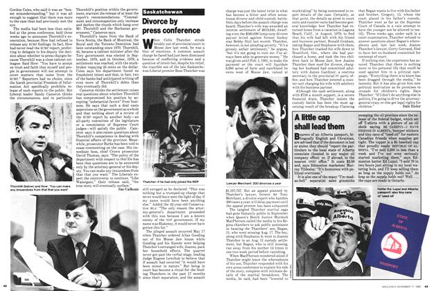 Article Preview: Divorce by press conference, November 1980 | Maclean's