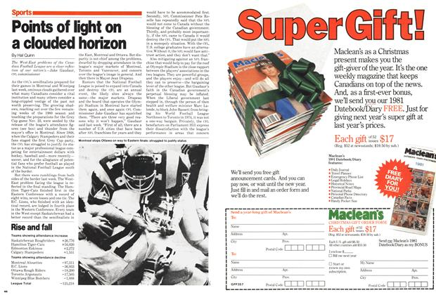 Article Preview: Points of light on a clouded horizon, November 1980 | Maclean's