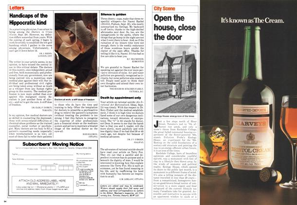 Article Preview: Open the house, close the door, November 1980 | Maclean's