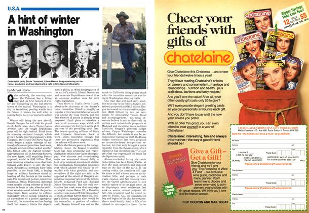 Article Preview: A hint of winter in Washington, November 1980 | Maclean's