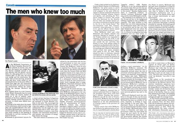 Article Preview: The men who knew too much, November 1980 | Maclean's