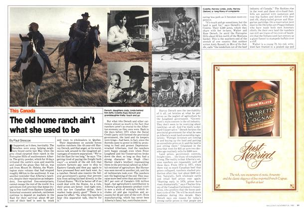 Article Preview: The old home ranch ain't what she used to be, November 1980 | Maclean's