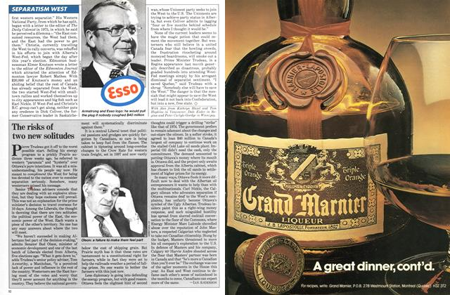 Article Preview: The risks of two new solitudes, December 1980 | Maclean's