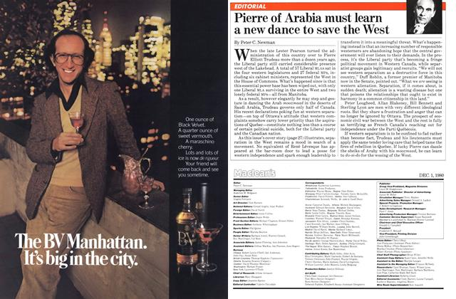 Article Preview: Pierre of Arabia must learn a new dance to save the West, December 1980 | Maclean's