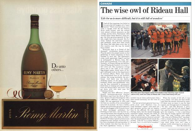 Article Preview: The wise owl of Rideau Hall, December 1980 | Maclean's