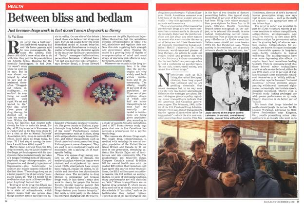 Article Preview: Between bliss and bedlam, December 1980 | Maclean's