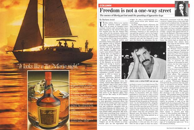 Article Preview: Freedom is not a one-way street, December 1980   Maclean's
