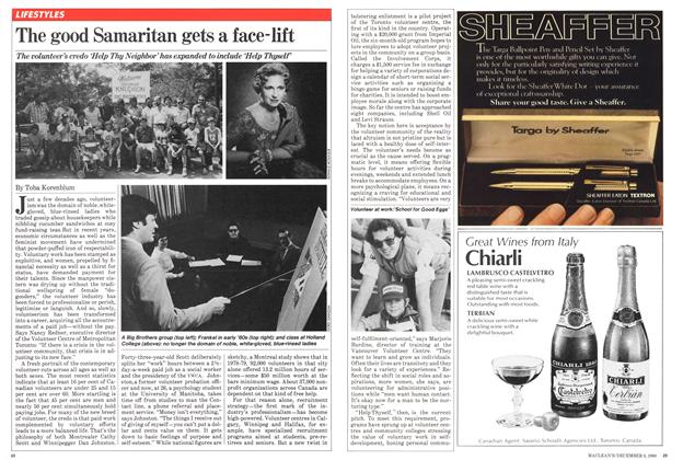 Article Preview: The good Samaritan gets a face-lift, December 1980 | Maclean's