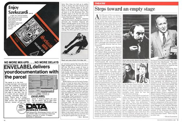 Article Preview: Steps toward an empty stage, December 1980 | Maclean's