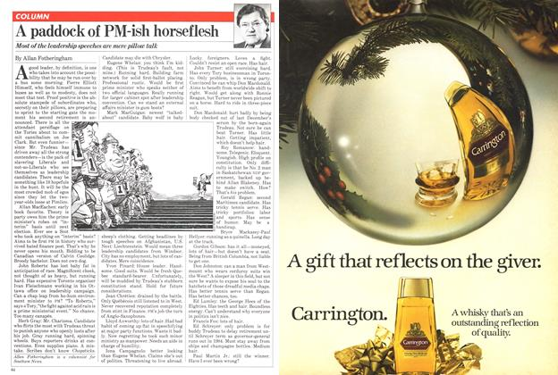 Article Preview: A paddock of PM-ish horseflesh, December 1980 | Maclean's