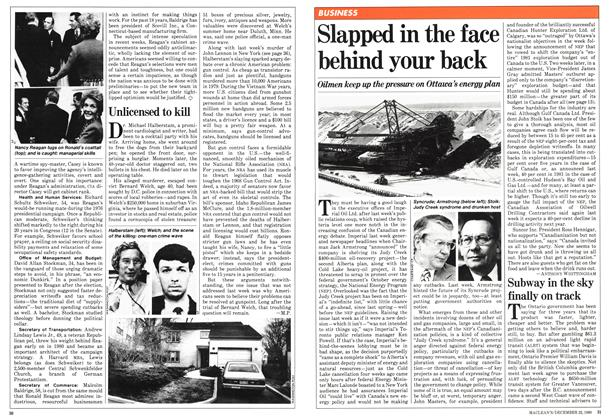 Article Preview: Slapped in the face behind your back, December 1980 | Maclean's