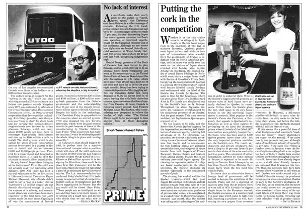 Article Preview: Putting the cork in the competition, December 1980 | Maclean's