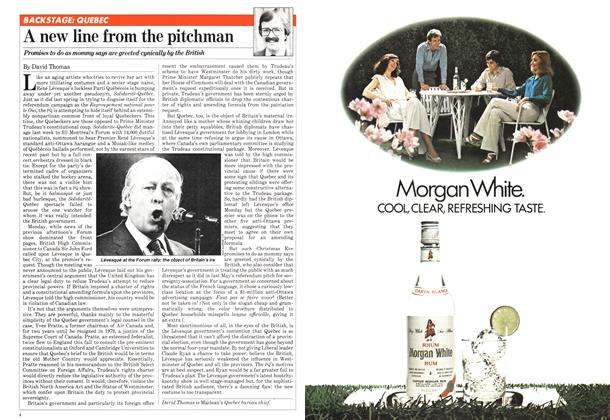 Article Preview: A new line from the pitchman, December 1980 | Maclean's