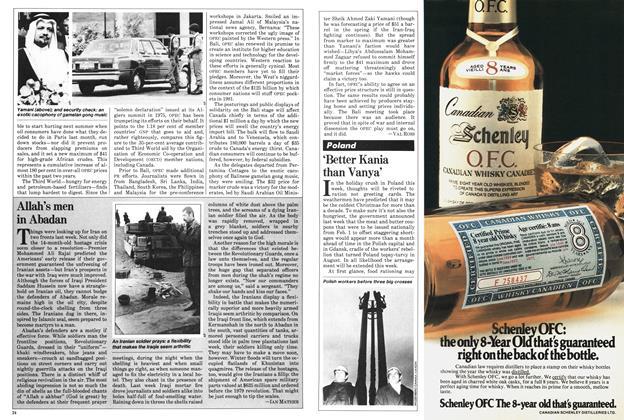 Article Preview: 'Better Kania than Vanya', December 1980 | Maclean's