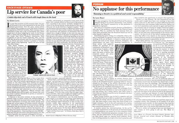 Article Preview: Lip service for Canada's poor, January 1981 | Maclean's