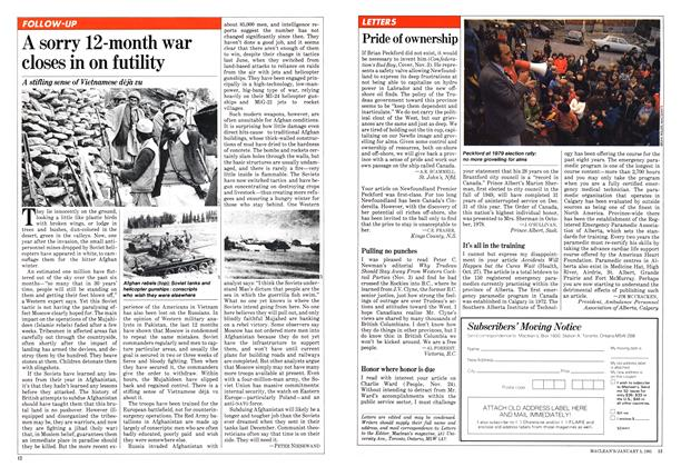 Article Preview: A sorry 12-month war closes in on futility, January 1981 | Maclean's