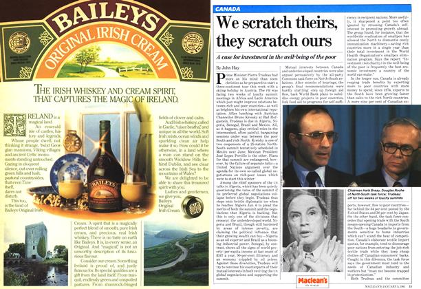 Article Preview: We scratch theirs, they scratch ours, January 1981 | Maclean's