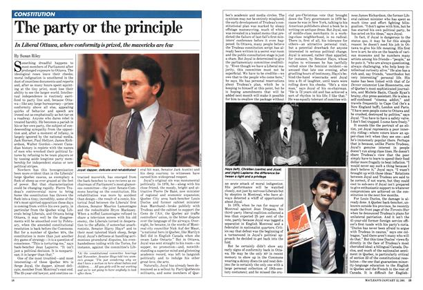 Article Preview: The party or the principle, January 1981 | Maclean's