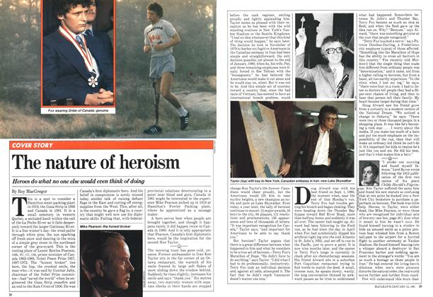 Article Preview: The nature of heroism, January 1981 | Maclean's