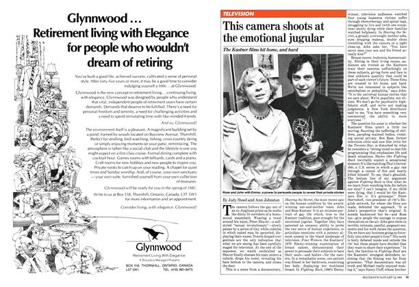 Article Preview: This camera shoots at the emotional jugular, January 1981 | Maclean's