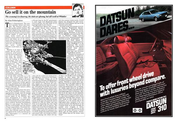 Article Preview: Go sell it on the mountain, January 1981 | Maclean's