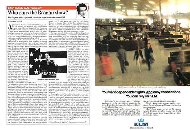 Article Preview: Who runs the Reagan show?, January 1981   Maclean's