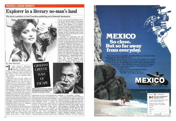 Article Preview: Explorer in a literary no-man's land, January 1981 | Maclean's