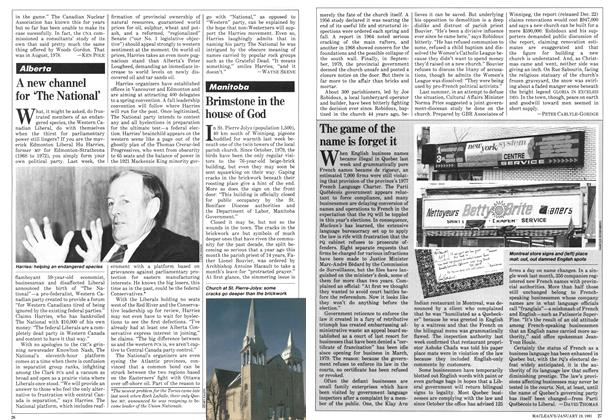 Article Preview: A new channel for 'The National', January 1981 | Maclean's
