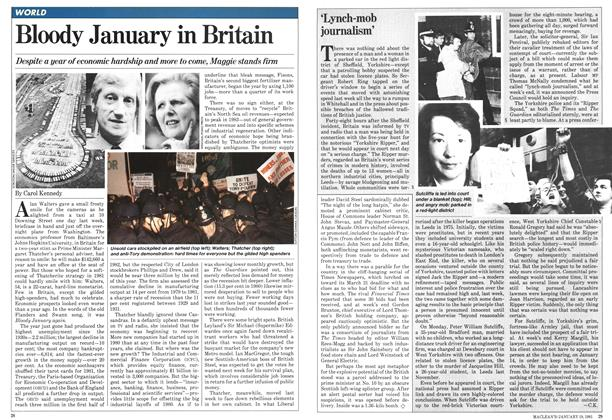 Article Preview: Bloody January in Britain, January 1981 | Maclean's