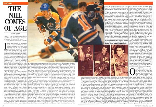 Article Preview: THE NHL COMES OF AGE, January 1981 | Maclean's