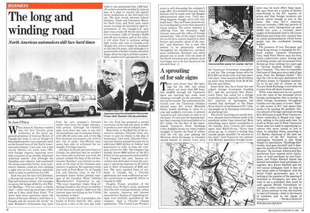 Article Preview: The long and winding road, January 1981 | Maclean's