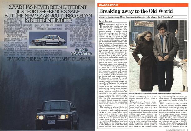 Article Preview: Breaking away to the Old World, January 1981 | Maclean's